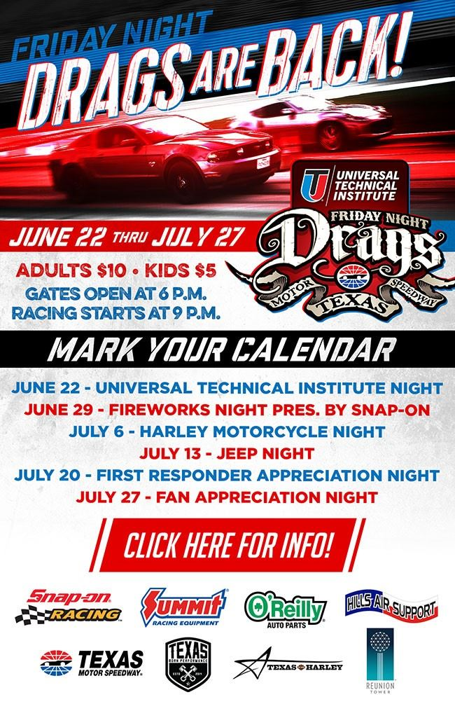 Texas Motor Speedway Friday Night Drags Are Back!